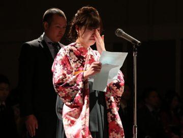 感謝の言葉 歯科技工士学科 代表 船田さん