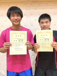 卓球男子ダブルス優勝!