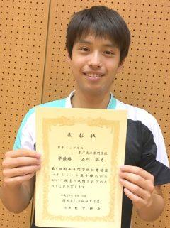 バドミントン男子シングルス 準優勝