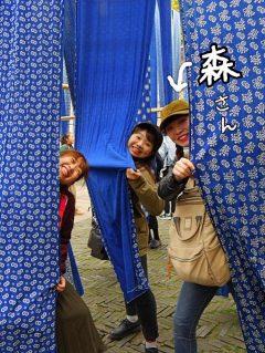 左から鍼灸師学科 昼間部2年生の仲西さん、新村さん、森さん