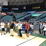 ハワイ大学のスポーツチームのトレーニングを見学