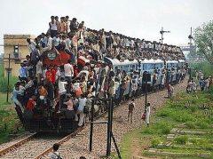 外国の満員電車