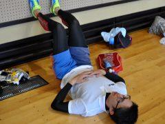 藤田先生、心を落ち着かせています