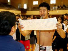 選手宣誓を務めた加藤くん!ボクサーのコスプレです(^^)