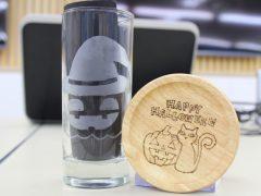 ハロウィン仕様のグラスとコースター!!