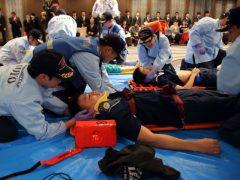 外傷性疾患を対応する救助隊
