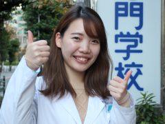 歯科技工士学科3年 成田 茉由さん