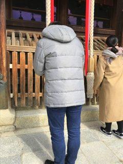 喜代平先生、参拝中。(※撮影は奥様がしてくださいました^^)
