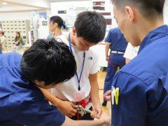 救急救命士だけではなく、消防士の業務についても学べるのだ!!