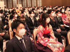 マスクをしながらの卒業式
