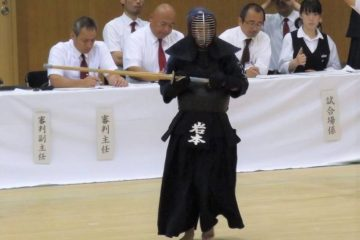 剣道に打ち込む岩本さん